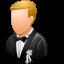 bridegroom, female, wedding icon