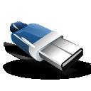 pen, disk, usb, drive icon