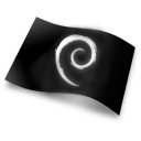 debian, flag icon