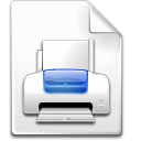 file, printer icon