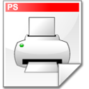 file, postscript, printer icon