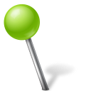 ball, base, chartreuse, left, map, marker, set, yooicons icon