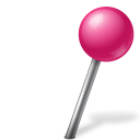 ball, base, map, marker, pink, right, zwitscha icon