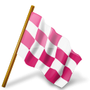 chequered, flag, map, marker, pink, right