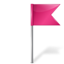 base, color, dock, flag, map, marker, me, pink, right icon
