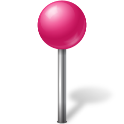 ball, base, map, marker, pink icon