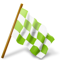 base, chartreuse, chequered, flag, map, marker, right, ultimategnome icon
