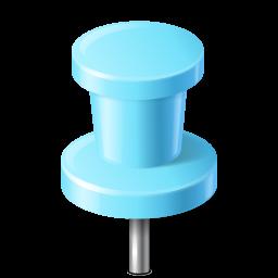 azure, base, map, marker, pin, push, targetdart icon