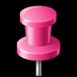 base, map, marker, pin, pink, push, workspace icon