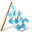 azure, base, chequered, flag, map, marker, right icon