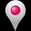 base, inside, map, marker, pink icon