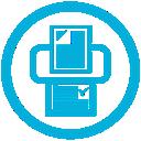 mb, print icon