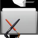 app, folder, graphite icon