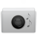 folder, graphite, music icon