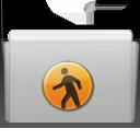 folder, graphite, public icon