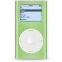 green, ipod, mini