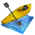 kayak, px, slalom icon
