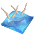 px, swimming, synchronized icon