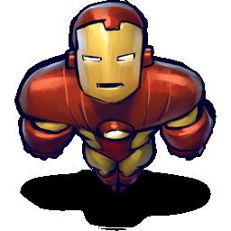flying, iron, man icon