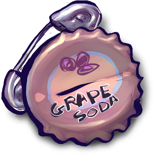grape, pin, safety, soda, with icon