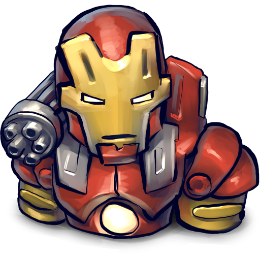 chin, iron, man, red icon