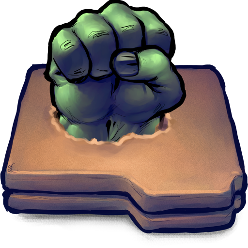 antiquated, desktop, hulk, metaphor!!, smash, ui icon