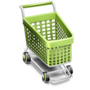 by, cart icon