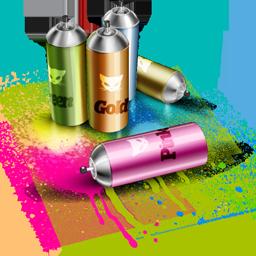 by, spray icon