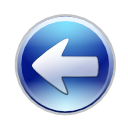 arrow, back, blue left, circle arrow, go back, left, prev, previous icon