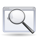 find, magnifying glass, search, window, zoom icon