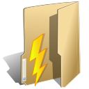folder, lightning, power