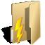 folder, lightning, power icon