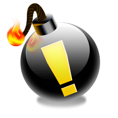 Bomb, exclamation point icon | Icon search engine