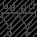 a/b testing, comparing, method, split testing, test icon