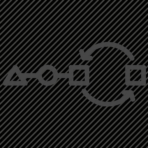 agile, method, process, split testing, test icon