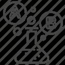 a/b testing, comparing, experiment, method, split testing, test icon