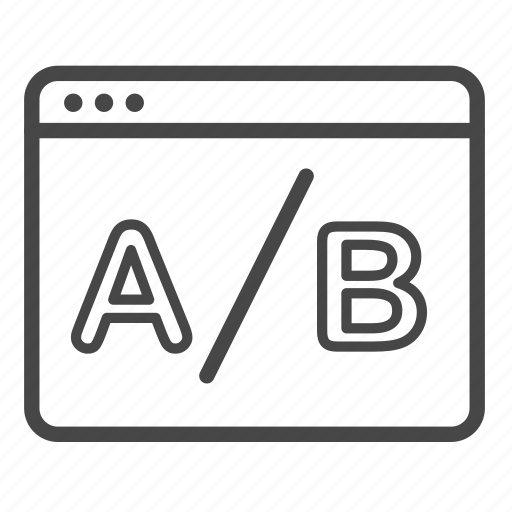 a/b testing, comparing, method, split testing, test, web icon