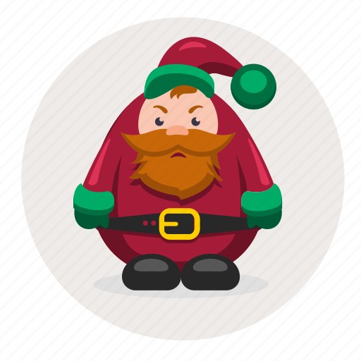 character, christmas, dwarf, mustache, new year, santa icon