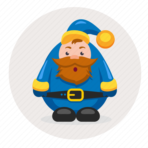 character, christmas, dwarf, mustache, new year, santa icon