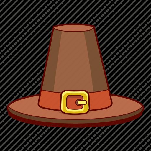 Buckle, capotain, hat, piligrim, thanksgiving icon - Download on Iconfinder