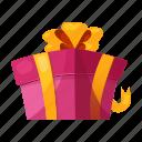box, fun, gift, holiday, party, present, ribbon icon