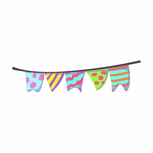 box, decoration, fun, garland, holiday, party icon