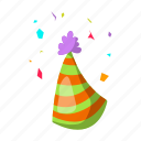 birthday, cap, fun, hat, holiday, party icon