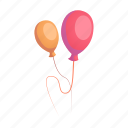 air balloon, birthday, decoration, fun, holiday, party icon
