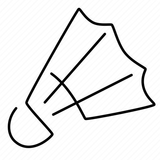 Badminton, sport, shuttlecock icon