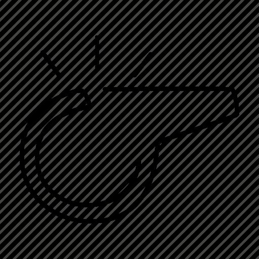 sport, whistle icon