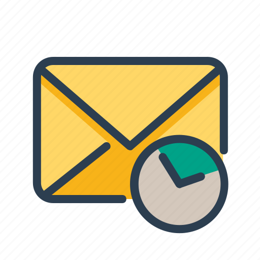 clock, email, reminder, time icon