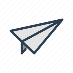 contact, deliver, email, mail, message, paper plane, send icon