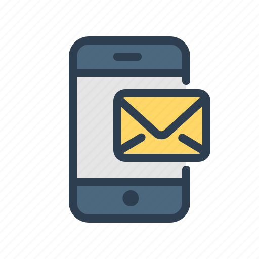 communication, email, envelope, mail, mobile, recieve, smartphone icon