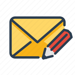 compose, email, envelope, message, new, pencil, write icon